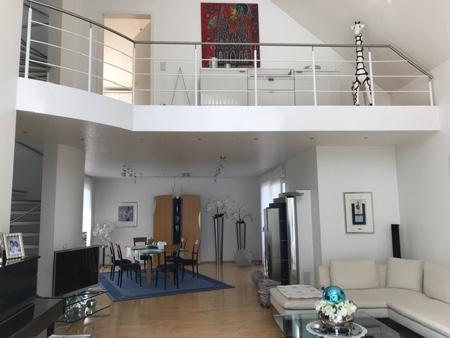 Architekturbüro Arlt, Einfamilienhaus, Innenansicht Galerie und Wphn-Essbereich