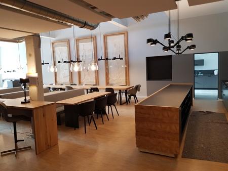 Architekturbüro Arlt, Gewerbeobjekt, Mönchengladbach, Innen, Ausschnitt Cafeteria